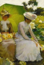 Lotus Lilies di Charles Courtney Curran, particolare
