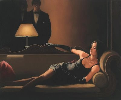 Along Came a Spider di Jack Vettriano