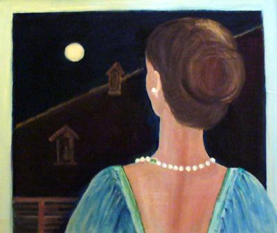 Guardando la luna di Dorella Dignola