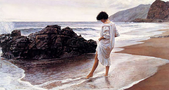 Woman at the seashore di Steve Hanks
