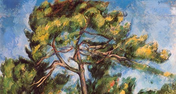 Il grande pino di Paul Cézanne